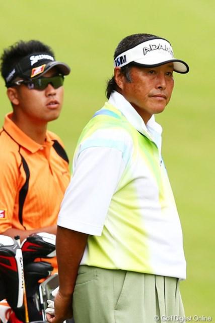 2013年 ダイヤモンドカップゴルフ 初日 尾崎将司&松山英樹 ジャンボ尾崎もスーパールーキーの力を高く評価。潜在能力を手放しで讃えた。