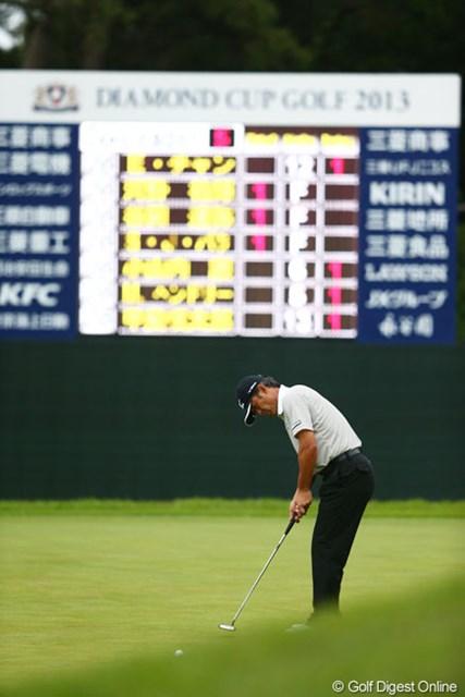 2013年 ダイヤモンドカップゴルフ 初日 鈴木亨 4アンダー2位タイ、気合が入ってるのを感じました