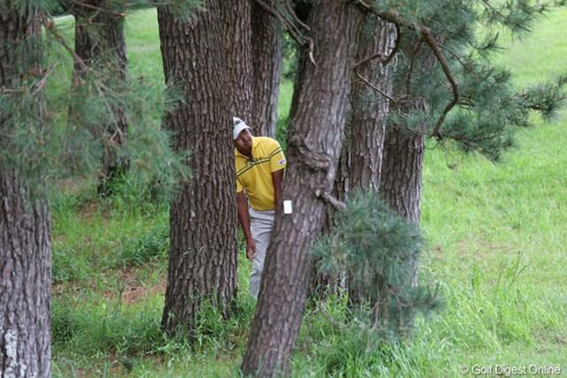 2013年 ダイヤモンドカップゴルフ 初日 岩田寛 ショットを曲げてしまうと本当に出すだけになってしまいます