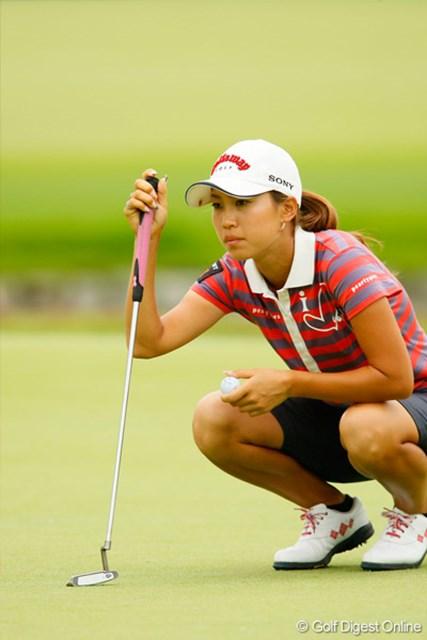上田桃子 「ショットが最悪だった」と話す上田桃子だが、30位タイに浮上した