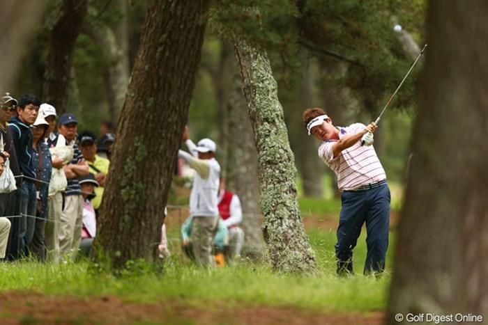 大洗の風に苦戦する選手も多く攻略するのも大変そうです 2013年 ダイヤモンドカップゴルフ 3日目  白佳和