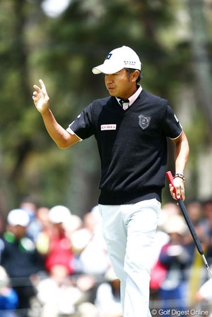 2013年 ダイヤモンドカップゴルフ 3日目 片山晋呉 スタートホールから幸先よくバーディを決め5アンダー8位T