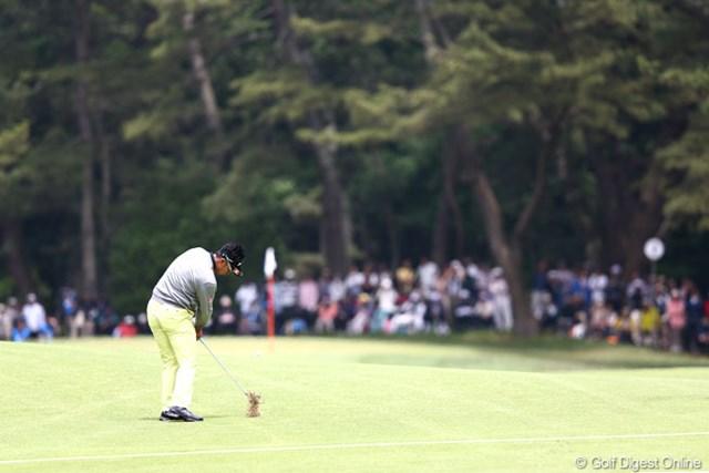 2013年 ダイヤモンドカップゴルフ 3日目 松山英樹 2番の3打目なんとバーディですよ
