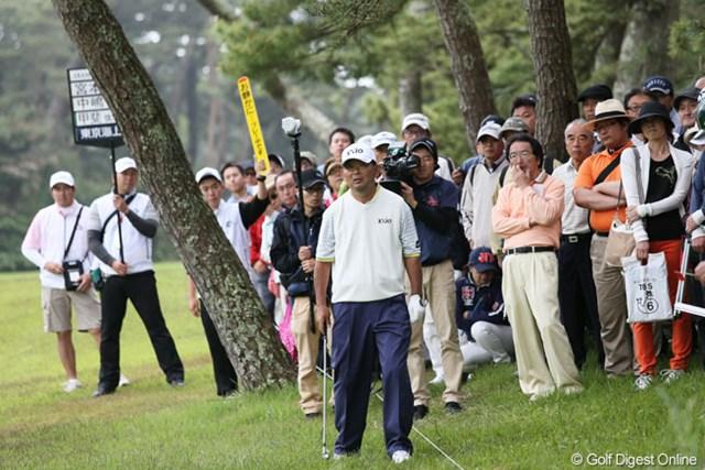 2013年 ダイヤモンドカップゴルフ 3日目 中嶋常幸 15番今日唯一のボギーホール