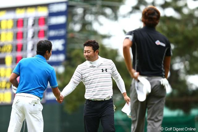 2013年 ダイヤモンドカップゴルフ 3日目 丸山大輔 18番ボギーフィニッシュとなってしまい6アンダー5位T