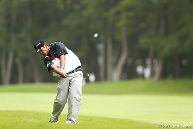 2013年 ダイヤモンドカップゴルフ 3日目 甲斐慎太郎 マンデー予選会通過で頑張ってます4アンダー12位