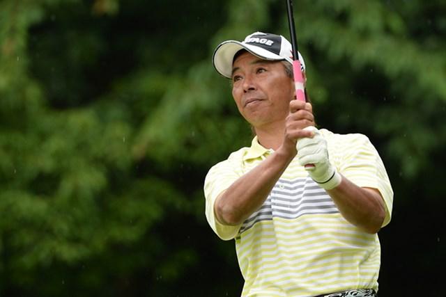 2013年 ISPS HANDA CUP 五月晴れのシニアマスターズ 最終日 井戸木鴻樹 序盤につまずき、優勝に2ストローク届かずの5位で終えた井戸木鴻樹 ※画像提供:日本プロゴルフ協会