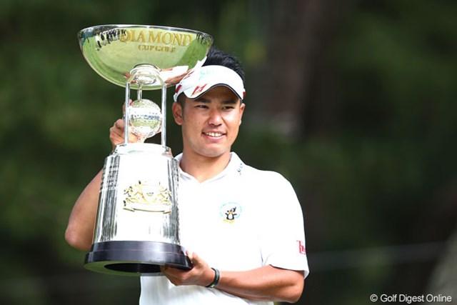 2013年 ダイヤモンドカップゴルフ 最終日 松山英樹 スーパールーキーの勢いは止まらない。今季5戦で2勝目を手にした松山英樹