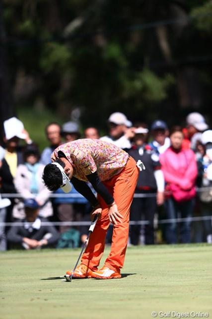 2013年 ダイヤモンドカップゴルフ 最終日 キム・ヒョンソン 15番痛い痛いボギーでした7アンダー2位T