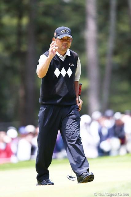 2013年 ダイヤモンドカップゴルフ 最終日 中嶋常幸 中嶋さんを応援する声もよく聞けました