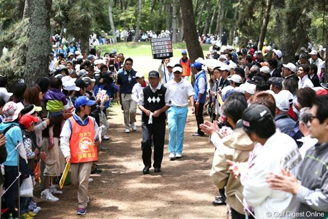 2013年 ダイヤモンドカップゴルフ 最終日 中嶋常幸、松山英樹 この2人の人気は絶大