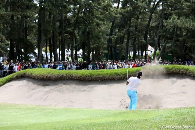 2013年 ダイヤモンドカップゴルフ 最終日 松山英樹 16番今日もドライバーであえてバンカー狙い?