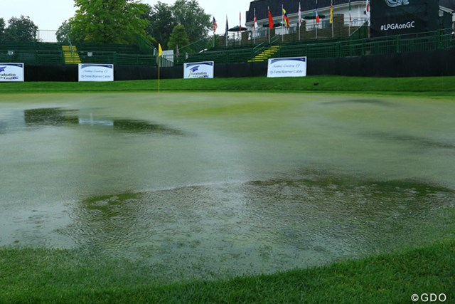 2013年 ウェグマンズLPGA選手権 初日 ローキャストヒルCC スタート前から降り続いた豪雨により初日キャンセルが決定。現状では最終日36ホール実施が予定されている