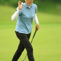 ママさんゴルファーがんばってます。今日は安定したゴルフでしたね。4アンダー2位タイです。 2013年 ヨネックスレディスゴルフトーナメント 初日 イエ・リーイン