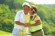 2013年 ヨネックスレディスゴルフトーナメント 最終日 表純子&広樹夫妻
