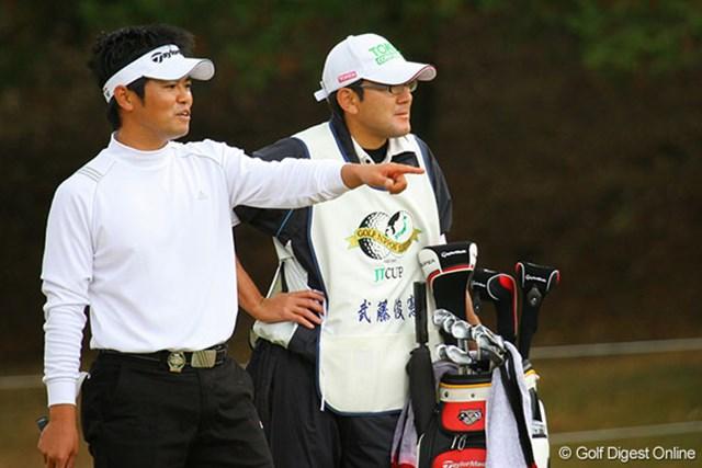 後半1ストローク伸ばし、2位タイで残り2日間で逆転を狙う武藤俊憲