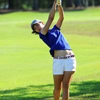 20歳の姉御・サユリ姐さんは8オーバーのドンケツ…。飛距離はダーディンとタメを張る飛ばし屋ですが、「パーオンが4回しかなかった」と豪快に笑っておられました~。押忍!118位T 2013年 サントリーレディスオープンゴルフトーナメント 初日 高島早百合