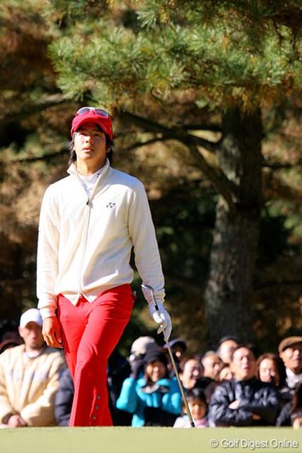 この日イーブンパーと伸び悩み優勝を逃した石川遼。悔しさを滲ませていた