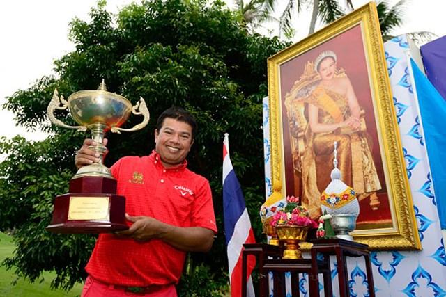 逆転で優勝を飾った、日本でもおなじみのプラヤド・マークセン(提供:アジアンツアー)
