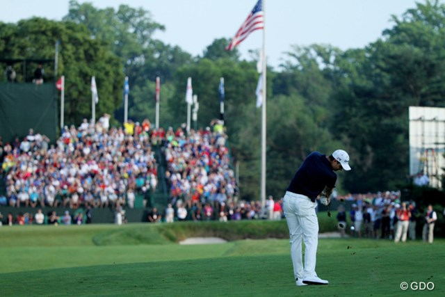 最後まで安定したゴルフを展開。難しいホールは確実に、やさしいホールではチャンスをモノにした。ついにメジャーの栄冠を手にした