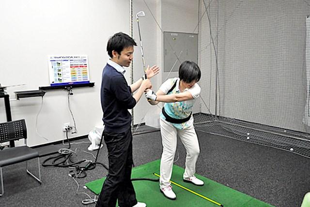 golftec LからLでヘッドの移動距離をアップ! 4-1