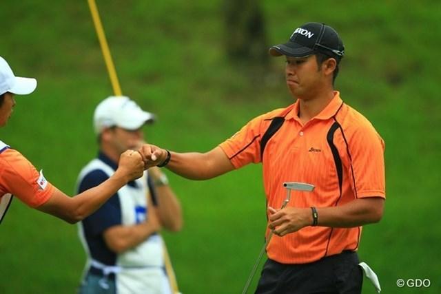 2013年 日本ゴルフツアー選手権 Shishido Hills 初日 松山英樹 USオープン疲れはないのでしょうね。2番Par5で楽々イーゲルゲット!5アンダー2位タイスタート。