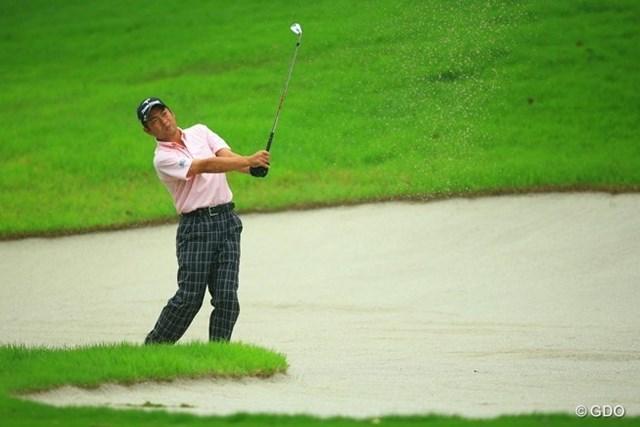 2013年 日本ゴルフツアー選手権 Shishido Hills 初日 池田勇太 まだ体調が完璧ではないのでしょうねぇ。元気がなさそうに見えます。イーブンパー52位タイスタート。