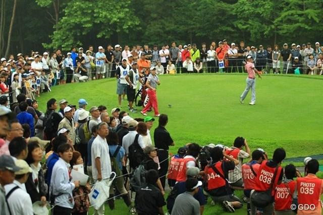 2013年 日本ゴルフツアー選手権 Shishido Hills 初日 石川遼 2番ティショットは、大きく右へ打ち出しOB。すべてはこのティショットから始まってしまった感じです。