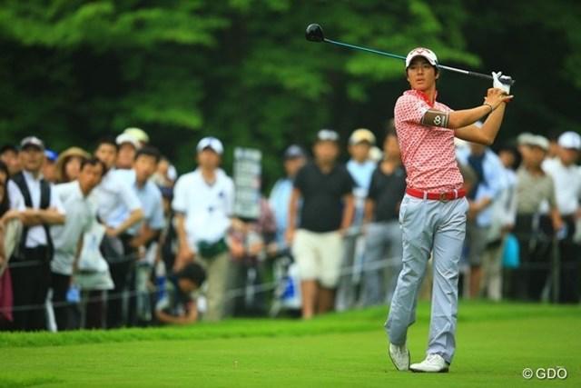2013年 日本ゴルフツアー選手権 Shishido Hills 初日 石川遼 17番ティショットもOB。何だか今日の遼くんは、集中力に欠けていた様に見えましたね。