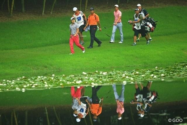 2013年 日本ゴルフツアー選手権 Shishido Hills 初日 石川遼、松山英樹、藤本佳則 確実に日本のゴルフ界を担う3人だと思います。AONのようなライバル関係になって欲しいなぁ。