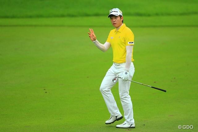 2013年 日本ゴルフツアー選手権 Shishido Hills 2日目 S.J.パク 今日はノーボギーのゴルフでした。最近は好調が続いてますね。4位タイです。