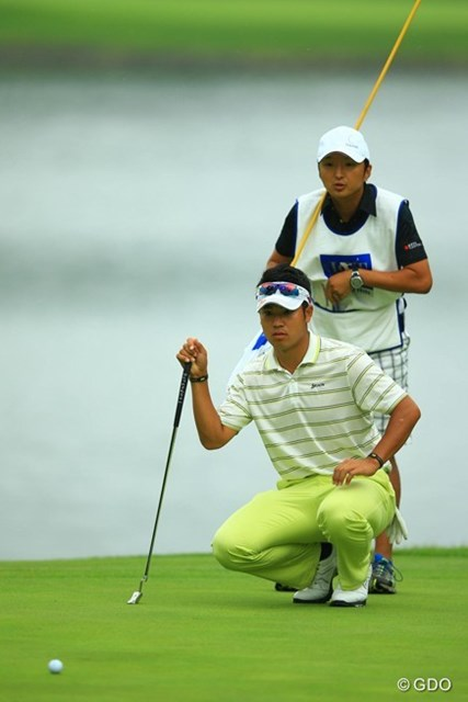 2013年 日本ゴルフツアー選手権 Shishido Hills 2日目 松山英樹 今日はなかなかパッティングも決められず・・・。5アンダー14位タイです。