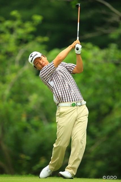 2013年 日本ゴルフツアー選手権 Shishido Hills 2日目 チョ・ミンギュ 単独首位でのスタートでしたが、今日はスコアを伸ばせず、6位タイに後退。