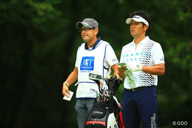 2013年 日本ゴルフツアー選手権 Shishido Hills 2日目 武藤俊憲 やっぱり爆発力健在ですねぇ。7つスコアを伸ばし、66位タイから9位タイへジャンプアップです。