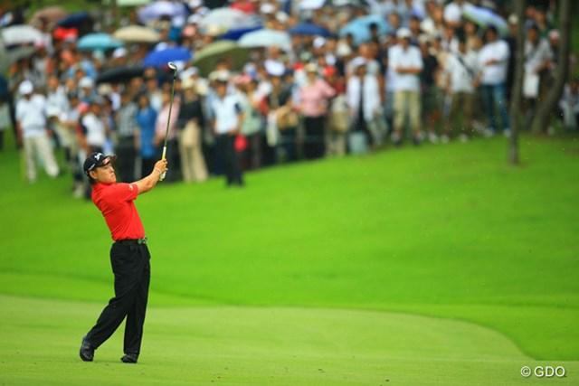 2013年 日本ゴルフツアー選手権 Shishido Hills 2日目 藤本佳則 ディフェンディングチャンピオンは残念ながら予選落ち。やはり「宍戸の呪い」ってあるのだろうか・・・。
