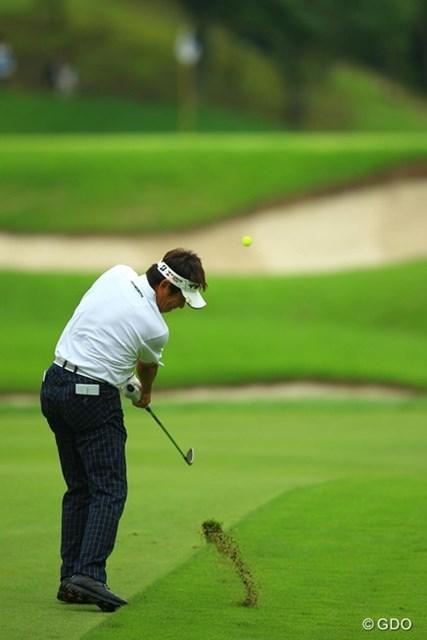 2013年 日本ゴルフツアー選手権 Shishido Hills 2日目 尾崎直道 17番で5オン3パットのダブルパーがもったいなかったです。79を叩き予選落ちとなってしまいました。