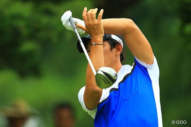 2013年 日本ゴルフツアー選手権 Shishido Hills 2日目 矢野東 なかなか珍しいドライバーのフィニッシュです。誰か分かりますか?