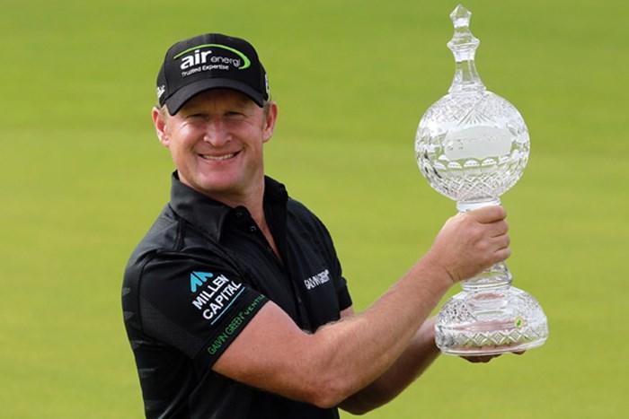 昨年2位に4打差で優勝を果たしたジェイミー・ドナルドソンが連覇に挑む(David Cannon/Getty Images) 2013年 アイルランドオープン 事前 ジェイミー・ドナルドソン