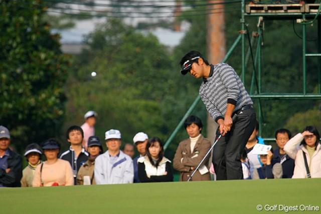 武藤俊憲は9番でチップインを狙ったが惜しくも入らず2位タイ