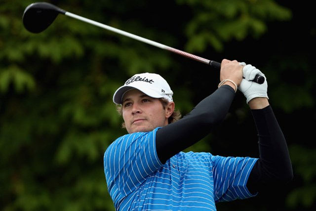 2013年 アイルランドオープン 2日目 ピーター・ユーライン 今季すでに1勝。欧州で戦う米国タイトリストの御曹司、P.ユーラインが好位置で決勝ラウンドへ。(Andrew Redington/Getty Images)