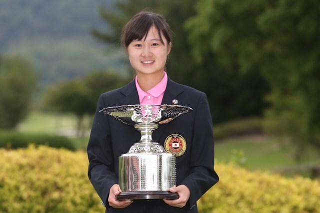 昨年決勝で敗れた森田遙が嬉しい初タイトルを獲得(写真提供/JGA)