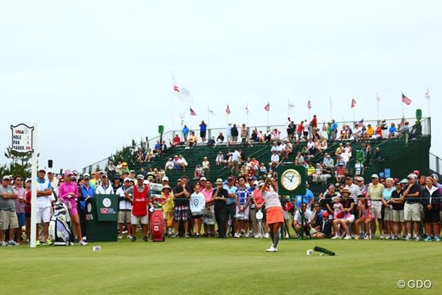 2013年 全米女子オープン 最終日 宮里藍 朝から風が強い中、宮里藍が最終日のスタートをきった