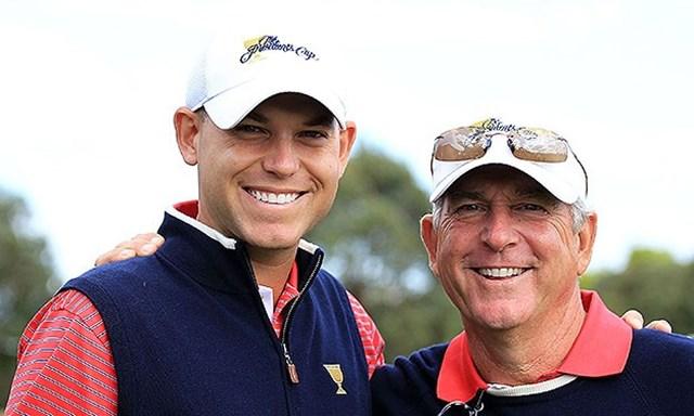 ジェイ・ハース(右)とビル・ハース親子 PGAツアーで2代に渡り成功を収めているジェイ・ハース(右)とビル・ハース親子(Getty Images)