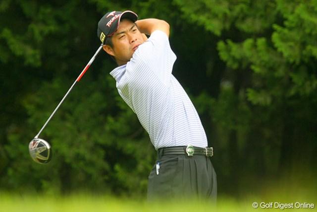 冠スポンサーのブリヂストンと契約を結ぶ池田勇太。単独4位で決勝ラウンドへ