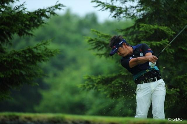 2013年 長嶋茂雄 INVITATIONAL セガサミーカップゴルフトーナメント 初日 藤田寛之 やっぱりプロって頭をしっかり残してるね。ずっとボールのあったとこ見てるでしょ