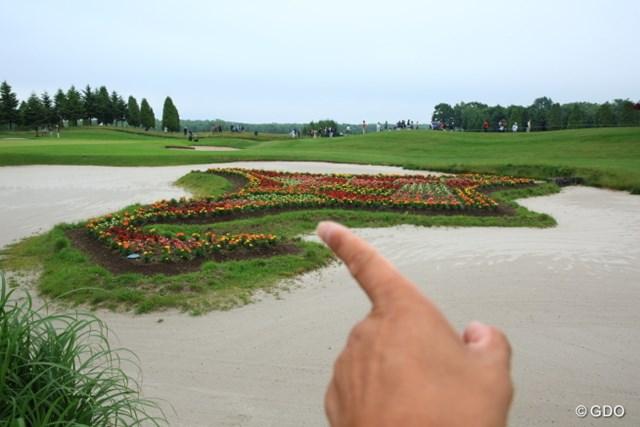 2013年 長嶋茂雄 INVITATIONAL セガサミーカップゴルフトーナメント 初日 花壇 このあたりが札幌?