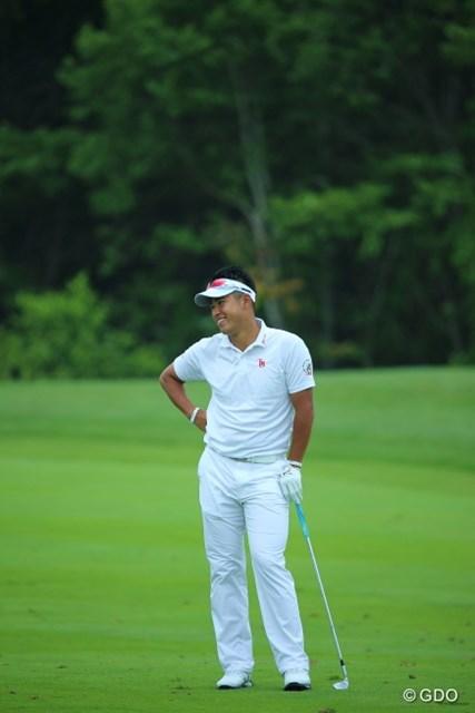 2013年 長嶋茂雄 INVITATIONAL セガサミーカップゴルフトーナメント 初日 松山英樹 今日の松山プロ、体操のお兄さんみたいだね