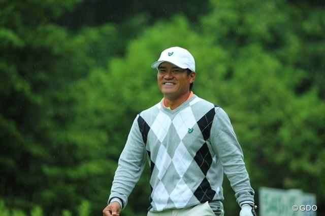 2013年 長嶋茂雄 INVITATIONAL セガサミーカップゴルフトーナメント 2日目 宮里優作 宮里優作は2日目、午後スタートの組でビッグスコアをマークした。