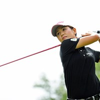 プロ入り10年目のベテランが、自身ベストスコアをマークして8位タイに浮上した 2013年 日医工女子オープンゴルフトーナメント 2日目 真鍋早彩