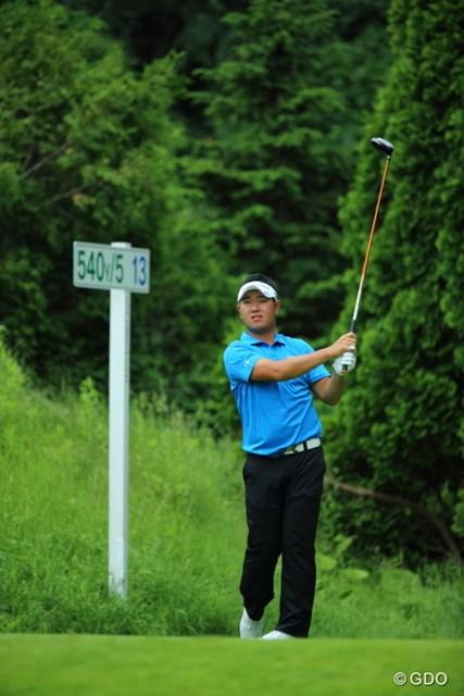 2013年 長嶋茂雄 INVITATIONAL セガサミーカップゴルフトーナメント 3日目 薗田峻輔 コースレコード「61」をマークした薗田峻輔。単独トップで最終日を迎える。